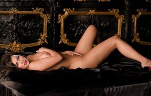 irina shayk, model, brunette, nude, spread, green eyes, fake