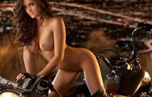girls, nude, pussy, boobs, legs, tits, brunette, bike, motorcycle, jaclyn swedberg