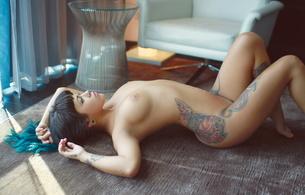 bixton, brunette, tits, tatoo, piercing, suicide girls