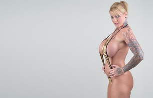 blonde, milf, updo hairstyle, monokini, shiny, model, posing, busty, tattoo, knockers, hooters, melons, gazongas, big boobs, motorboat, minimalist wall, body art, cougar, ultra, hi-q, sabrina linn, 40gg, best quality, super boobs, ultra hi-q