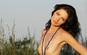 model, zemani, rita, at sunset, out doors, skinny, delicious, small tits, tiny tits