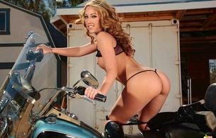 real peachez, tit, bike, outdoors, thong, babe, model, sarah peachez, peachez, arse, butt, cheeks