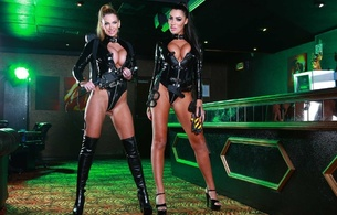 leigh darby, ava koxx, 2 babes, milf, busty, lingerie, smile, decollete, pornbusters, lycra, shiny, pvc, body, legs, heels, boots, fetish babe, curvy, tight clothes, long legs, cameltoe, hot, plateau heels, overknee boots, teasing, babes in boots