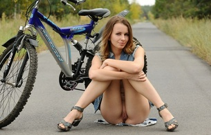 lucia d, aka paola h, birthplace ukraine, hair brown, natural, teen, paola h, legs, pussy, twat, labia, shaved, bike, bicycle