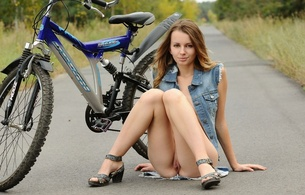 lucia d, aka paola h, birthplace ukraine, hair brown, natural, teen, paola h, legs, pussy, twat, labia, bike, bicycle