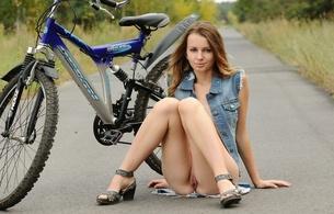 lucia d, aka paola h, birthplace ukraine, hair brown, natural, teen, paola h, legs, pussy, twat, labia, bike