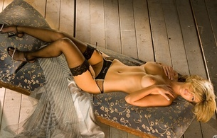nikki churchill, playboy, sexy, lingerie, stockings, blonde