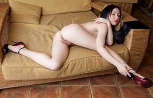 night a, brunette, tits, ass, pussy, heels, sexy, spreading legs, hot, ass wallpaper, high heels