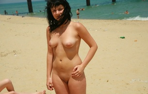 nude beach, babes, amatuers, natural, ocean, out doors, sand