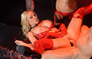 alektra blue, nikki benz, 2 babes, pornactress, blonde, brunette, adult model, sexy babe, red, latex, lingerie, bra, gloves, panty, stockings, shiny, rubber fetish, hardcore, dick, nikki, fucked, banged, alektra and nikki red latex, dick, dick adore