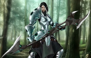 female, warrior, elf, 3d, fantasy, blade
