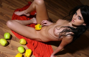 renata, teen, metart, fruit, studio, skinny, small tits, beauty