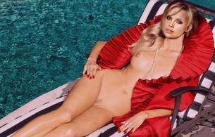 chalize theron, actress, blonde, nude, pool, fake, charlize theron