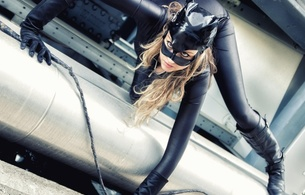 young, blonde, model, sexy babe, long hair, posing, black, lingerie, shiny, lycra, catsuit, pvc, mask, catwoman, leather, knee boots, whip, tight clothes, fetish babe, babes in boots
