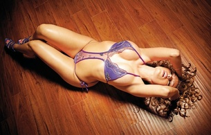 courtney black, model, lingerie, purple, sexy, hair, heels, lowrider girl
