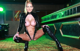helle thorning schmidt, norwegian, celebrity, politician, nude, fake, blonde, busty, sexy babe, kneeling, black, leather, knee boots, spread, legs, shaved, cunt, shiny clothes, celebrity fake, pornbusters, babes in boots, overknee boots
