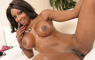 diamond jackson, american, pornactress, busty, ebony, milf, sexy babe, long hair, adult model, posing, smile, naked, legs, spread wide, trimmed, cunt, big boobs, knockers, funbags, fake boobs, big tits, diamond, ebony gold