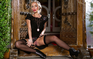 nicole aniston, penthouse, stockings, blonde, girl