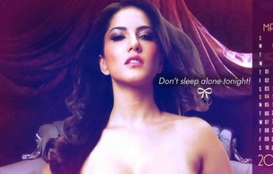 sunny leone, sunny, leone, underboobs, sexy, brunette, hot, beauty, lingerie, hot, perfect, beauty, wonderful curves, gorgeous, bed, leaned, ass, poster, bollywood, celeb, calendar