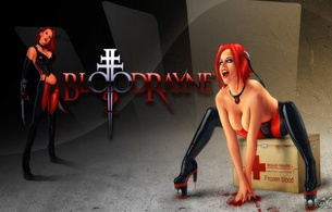 bloodrayne, anime, cartoon, biches, vampire, tits, ass, oil painted, xartistx design