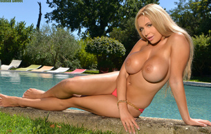 anastasia sweet, hot, blonde, big, tits, amazing, big boobs, huge tits, large breasts, beautiful, gorgeous, water, busty babe, beauty, face, eyes, long hair, big breasts, pool, poolside, super boobs, russian, glamour, boobs, model, perfect tits