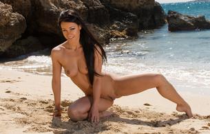 melisa mendiny, brunette, sexy girl, adult model, czech, nude, naked, sexy legs, trimmed pussy, tits, boobs, nipples, beach, sea, sand, kristina walker, kristina uhrinova, carrie du four, lexa, melisa a, hi-q
