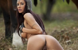 aymee, fantasy, brunette, madian, chain mail, armor, gloves, anus, arse, butt, cheeks, pussy, labia, shaved, medieval woman, medieval, hi-q, hot, ass wallpaper