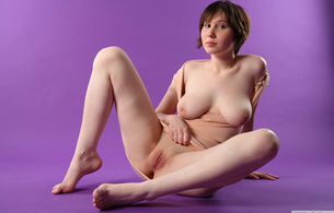 hope, brunette, nude, shaved pussy, boobies