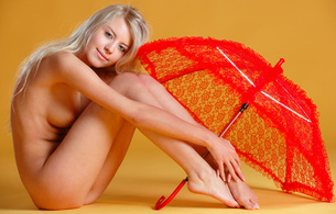 barbara d, blonde, sexy girl, adult model, russian, nude, naked, umbrella, hi-q