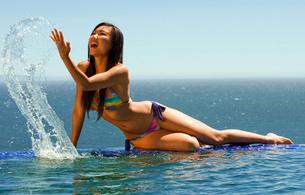 Are hiromi oshima nude at beach