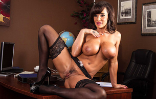 lisa ann, tits, pussy, stockings, trimmed pussy, spreading legs
