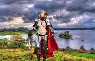 warrior woman, castle, naked, big tits, shaved pussy, sword, blonde, armour, armor, knight, bree daniels, brea, skinny, delicious, sexy, small tits, tiny tits, perfect girl, tippy toes, hot ass, perfect body, perfect tits, perfect breasts, nipples, puffy