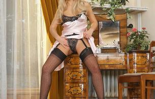 andrea randall, andrea wenclova, nikol w, blonde, stockings, low quality