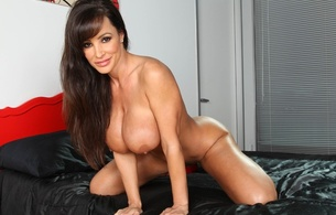 lisa ann, american, pornstar, busty, curvy, milf, sexy babe, long hair, adult model, posing, kneeling, smile, big tits, boobs, juggs, fake tits, legs, spread wide, teasing, super boobs