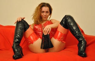 ann, german, redhead, cam girl, amateur, model, sexy babe, curly hair, posing, sitting, sexy, dressed, red, pvc, lingerie, corset, fishnet, stockings, overknee, high boots, teasing, curlyann, flashing, shaved, cunt, re-up, babes in boots