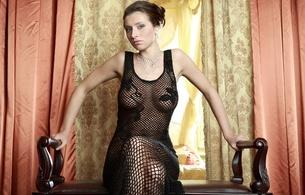 nadia, simone b, gretta, kiska, beautiful, gorgeous, awesome, model, brunette, peekaboo, see through, fishnet, no bra, breasts, boobs, boobies, posing, elegant, classy, sexy, erotic, hot, young, sexy babe, black, bodystocking, lingerie series