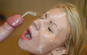 cumshot, cum, cock, oral sex, sperm, blonde, open mouth, penis, обкончал, sexy babe, creamed, close up, eyes, face, white rain, hq porn, dick, dick adorer, lovers dick, jizz face