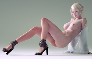 3d vector girl, blonde, fantasy, anime, erotic, beauty, skinny, delicious, sexy, perfect girl, widescreen cut