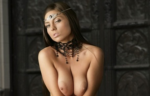 ezca, brunette, hot, hooters, boobs, tits, breasts, nipples, necklace, delicious, sexy