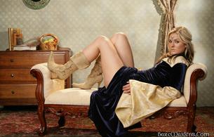 dargundy, blonde, dress, boots, legs