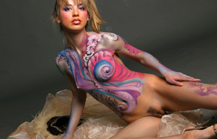 natalia b, cute, young, beautiful, body paint, beautiful, model, long hair, skinny, delicious, sexy, perfect girl, small tits, tiny tits, perfect tits, perfect ass, hot ass, perfect body, perfect butt, nipples, puffy nipples, cassie, lia, nataliya, fluff