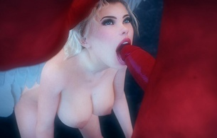 virtual, blonde, sexy babe, erotic art, 3d, busty, babe, naked, white, wings, artificial, angel, close up, nice tits, nipples, dick, cock, lovers dick, teasing, red, giant, monstercock, virtual porn, suck dick, mouthjob, blowjob, bj