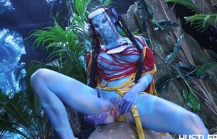 avatar, nude, naked, fantasy, girl, na'vi, exy babe, long hair, nice rack, sexy ass, close up, vertical smile, hot, ass wallpaper, blue, pussy, spreading pussy