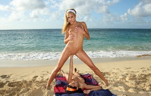 amia moretti, amia miley, brunette, anita pearl, blonde, beach, naked, small tits, nipples, shaved pussies, lesbians, fisting, 2 babes, lesbian, girl girl pics, crashing waves, funny, perfect vacation, helping hands, sand, playful