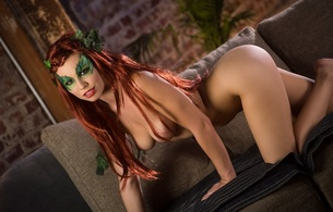 aidra fox, sexy girl, adult model, nude, naked, young, sexy babe, poison ivy, cosplay