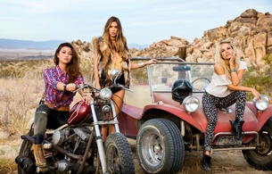 chelsie aryn, maggie may, brunettes, dani mathers, blonde, playboy, models, motorcycle, dune buggy, outdoors, sexy, hi-q, 3 babes, tight clothes, cars, and, bikes, whores