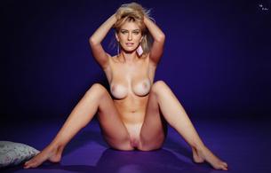 bar refaeli, blond, posing, photoshoot, legs spread, pussy, tan lines, feet, fake, celebrity fake, tanlines