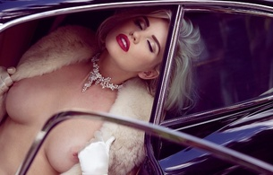kayslee collins, model, playboy, playmate, blonde, boobs, breasts, amazing, sexy, beautiful, face, eyes, red, lips, beauty, short hair, hairstyle, perfect, gorgeous, elegant, charm, fashion, stylish, gloves, tits out, car