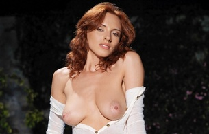 leka c, lera o, redhead, model, no bra, rack, hooters, funbags, breasts, boobs, boobies, big tits, natural tits, big nipples, areola, beautiful, gorgeous, voluptuous, curves, outdoors, sunlight, ultra, hi-q
