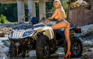 lara de santis, ass, pussy, blonde, pornstar, butt, hot ass, perfect girl, xxx, porn actress, nude, bike, atv, quad bike